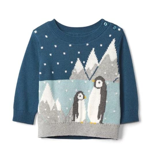 5eaa8f510 Gap Shirts & Tops | Baby Baby Boys Penguin Sweater | Poshmark
